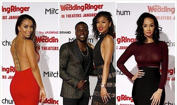 'The Wedding Ringer' Premiere Red Carpet: Kevin Hart, Eniko Parish, Draya Michele, Affion Crockett, Gloria Govan