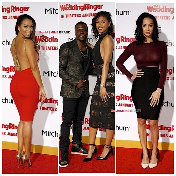 'The Wedding Ringer' Premiere Red Carpet: Kevin Hart, Eniko Parish, Draya Michele, Affion Crockett, Gloria Govan