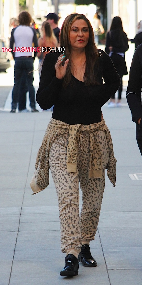 Tina Knowles in Beverly Hills