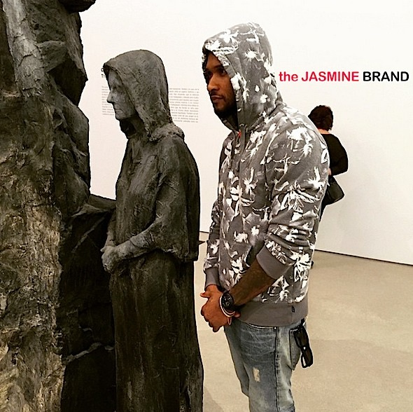 Newly Engaged Usher Plays Tourist Pérez Art Museum [Photos]