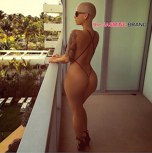 Amber Rose Breaks Instagram In String Bikini + Wiz Khalifa Approves [Photos]