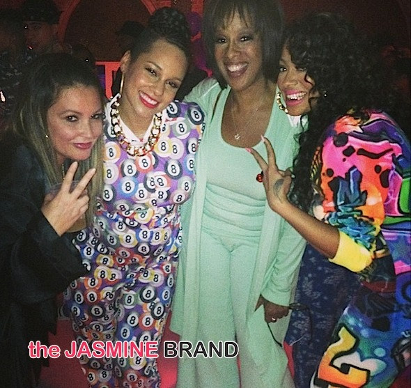 angie martinez-gayle king-lala-alicia keys-pajammy jam birthday party-the jasmine brand