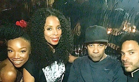 Crew Love: Denzel Washington, Brandy, Lee Daniels, Lenny Kravitz, Tasha Smith Party in LA [Photos]