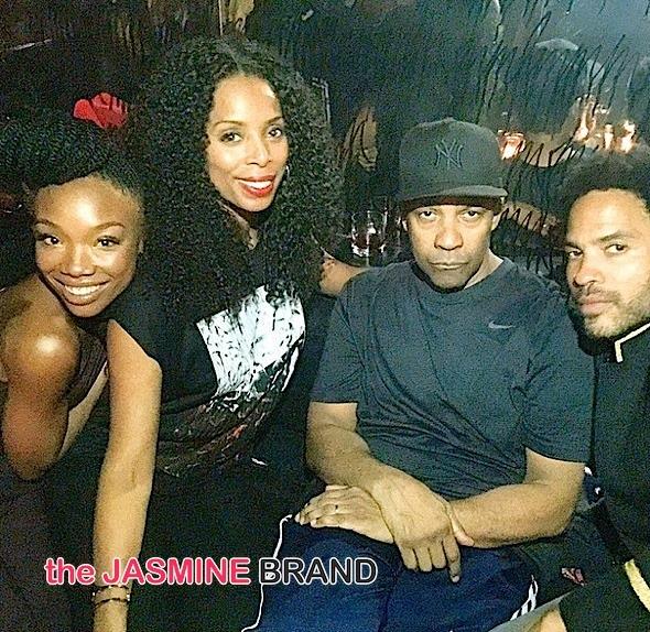 Crew Love: Denzel Washington, Brandy, Lee Daniels, Lenny Kravitz, Tasha Smith Party in LA [Photos]