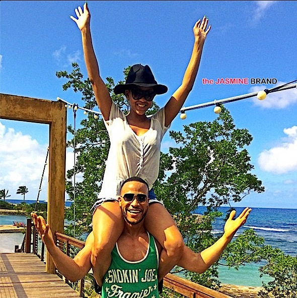 Celebrity Cup Cakin': Actress Meagan Good & Hubby DeVon Franklin Spotted in Jamaica [Photos]