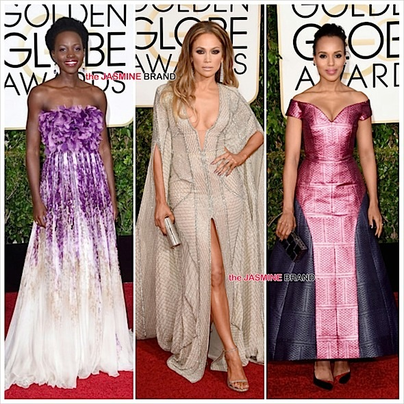 Golden Globe Awards Red Carpet: J.Lo, Lupita Nygon'o, Kerry Washington, Kevin Hart, Chrissy Teigen [Photos]