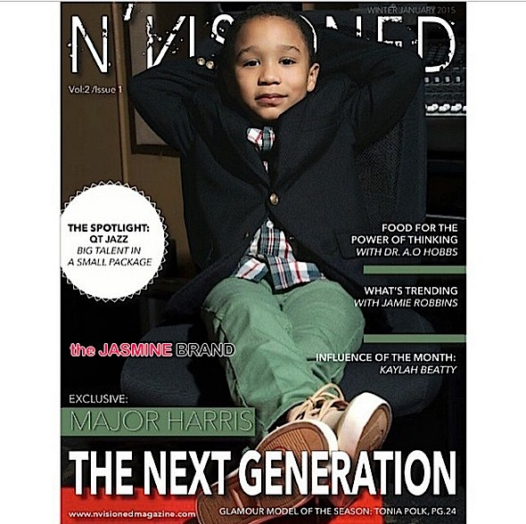Kiddie Cuteness! Tiny Harris & T.I.'s Son Major Covers Nvisioned Mag