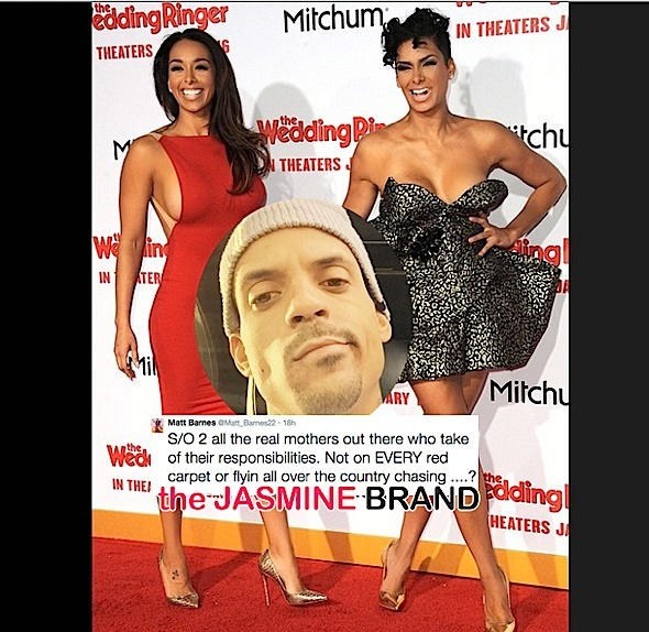 matt barnes-criticizes estranged wife-gloria govan-not being a real mother-the jasmine brand