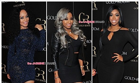 Porsha Williams, The Dream, Monyetta Shaw, Mendeecees Harris, Toya Wright Party At ATL's Gold Room [Photos]