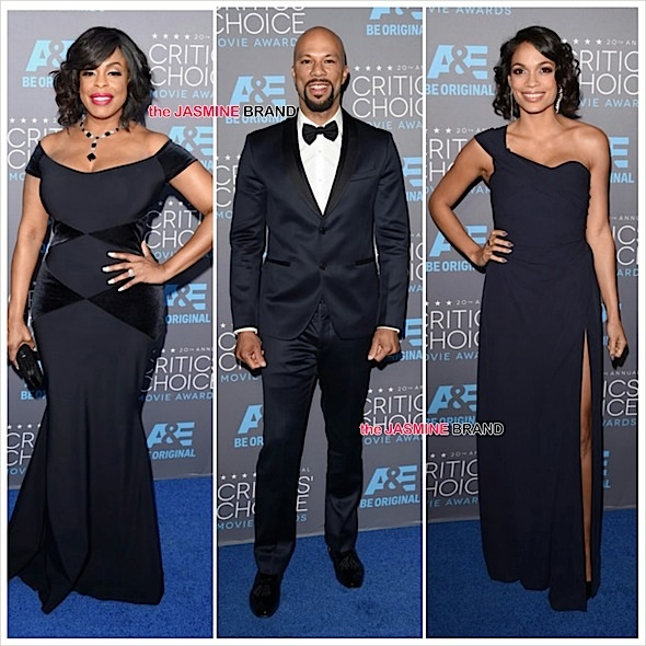Critics Choice Movie Awards Red Carpet: Rosario Dawson, Tyler Perry, Common, Niecy Nash, Cuba Gooding Jr, Jesse Williams + Complete Winner List! [Photos]