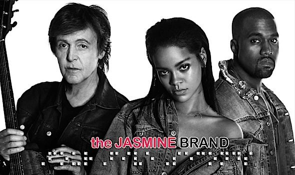 Rihanna 'FourFiveSeconds' feat. Kanye West, Paul McCartney [New Music]