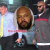 "Marion ""Suge"" Knight, walks into the Los Angeles County Sheriffs department."