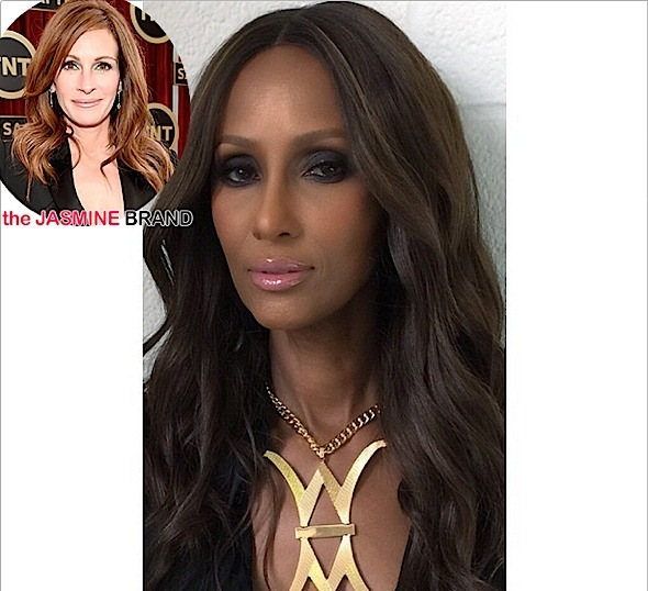 Super Model Iman Gives Julia Roberts A Fashion Tongue Lashing