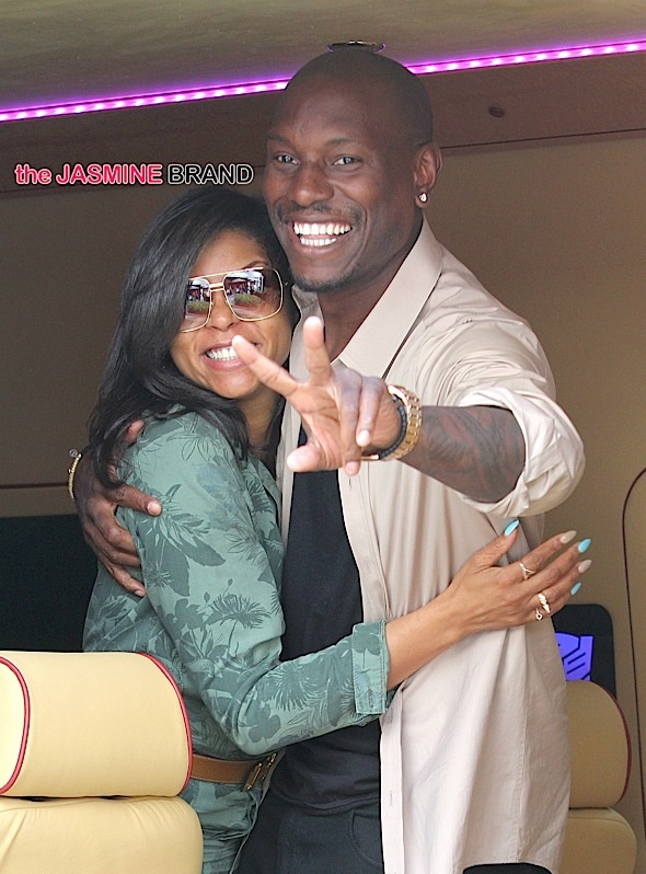 Tyrese Gibson and Taraji P. Henson having fun in Los Angeles***NO DAILY MAIL SALES***