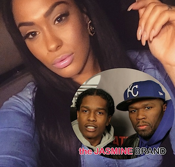 50 Cent Confronts A$AP Rocky Over Ex-Girlfriend, Tatted Up Holly: You can't afford her!