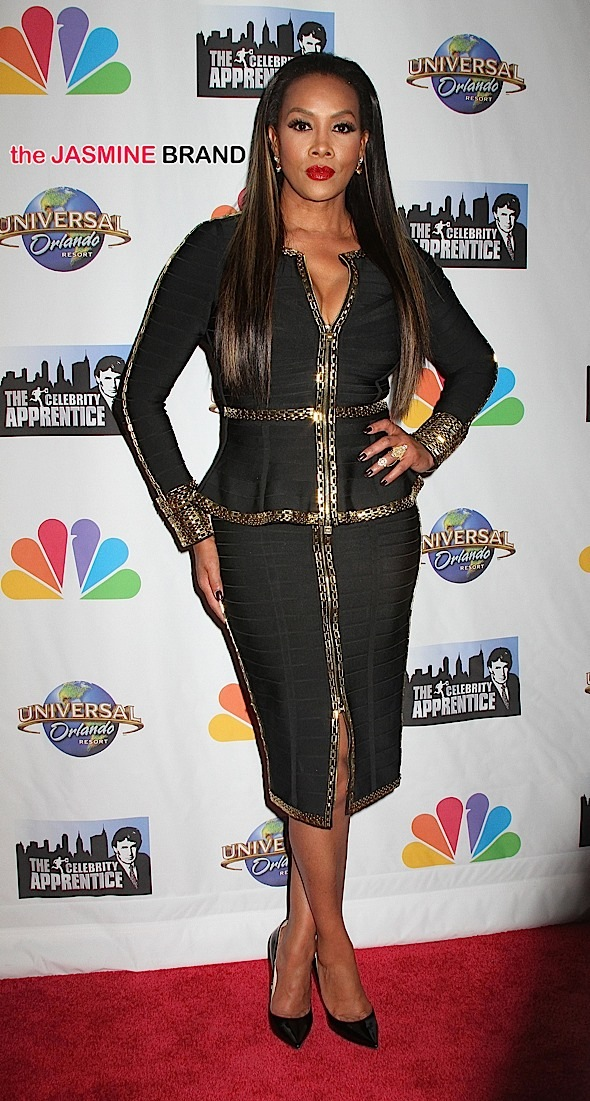 Actress Vivica A. Fox at the 'Celebrity Apprentice' finale at Trump Tower in NYC