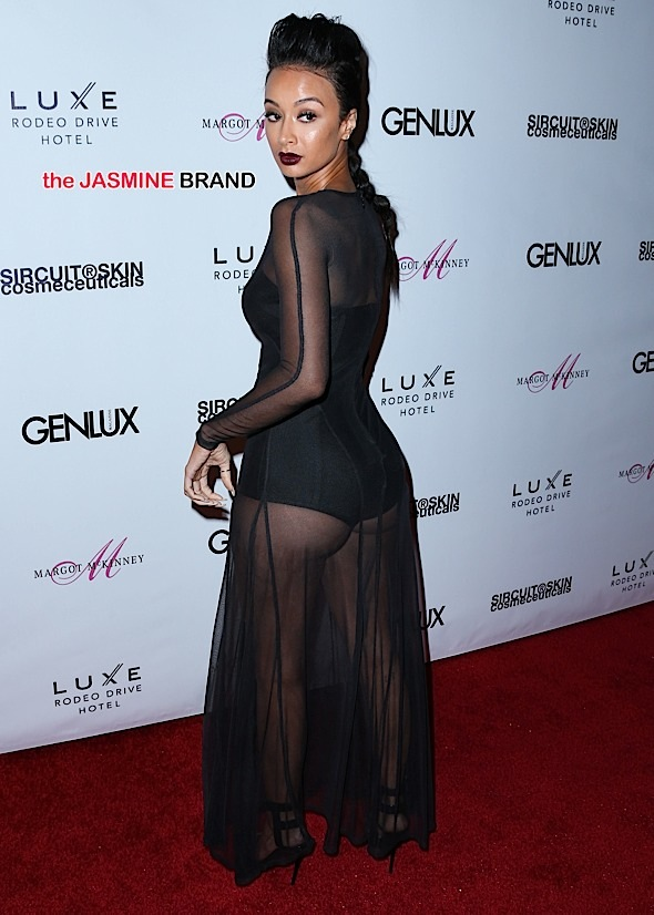Draya Michele arrives at the Genlux Magazine Issue Release Party with cover girl Dita Von Teese