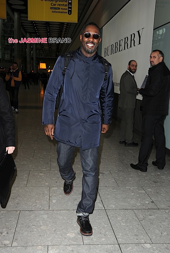 Idris Elba at Heathrow Airport