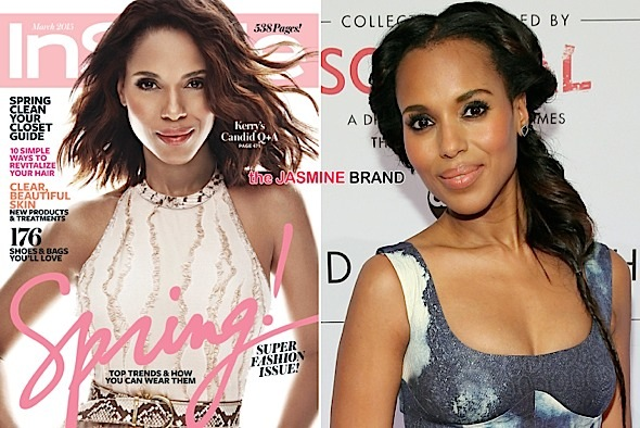InStyle Denies Lightening Kerry Washington's Skin For Cover [Photo]