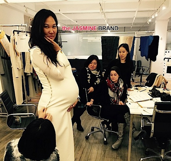 Kimora Lee Simmons-pregnant NYFW-the jasmine brand