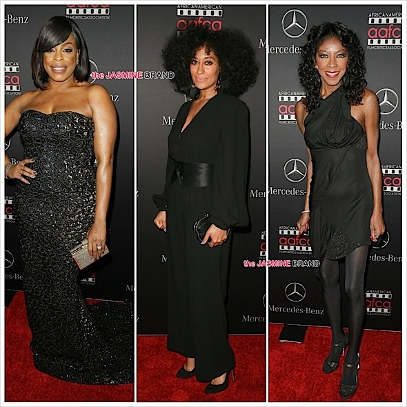 Niecy Nash-Tracee Ellis Ross-Natalie Cole-Oscars Viewing Party-the jasmine brand