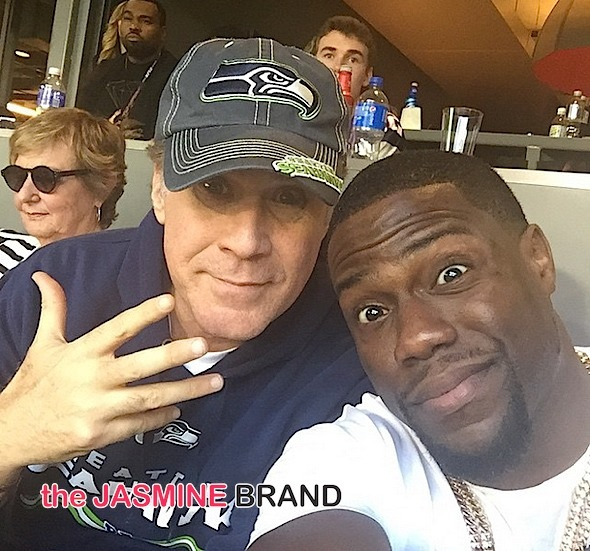 Celebrity Super Bowl Photos: Kevin Hart, Rick Ross, Rihanna, Kanye West, Missy Elliott