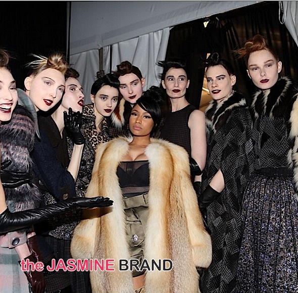 Nicki Minaj Attends Marc Jacobs NYFW Show [Photos]