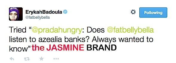 azealia banks-calls erykah badu jealous and old-the jasmine brand