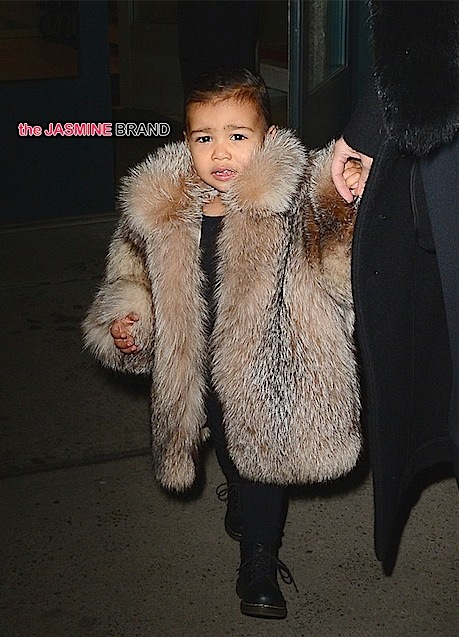 baby north west-nyfw leaves kanye west show-the jasmine brand