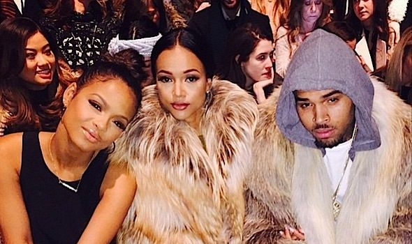 Chris Brown, Karrueche & Christina Milian Spiked-Out At New York Fashion Week [Photos]
