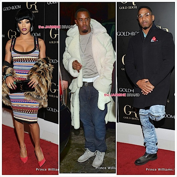 Diddy, Stevie J, Joseline Hernandez, Claudia Jordan, Erica Dixon Party At ATL's Gold Room [Photos]