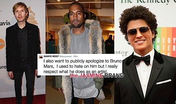 Kanye West Publicly Apologizes to Beck & Bruno Mars: I use to hate on him.