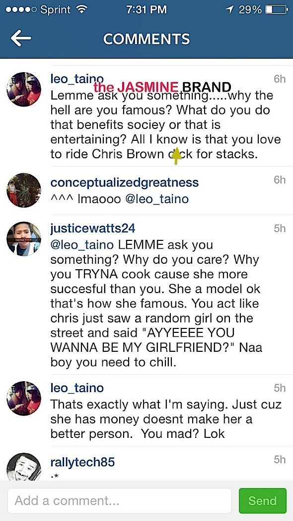 karrueche tran-blasts a critics on instagram-the jasmine brand