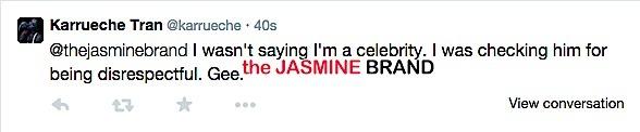 karrueche tran-celebrity tweet-the jasmine brand