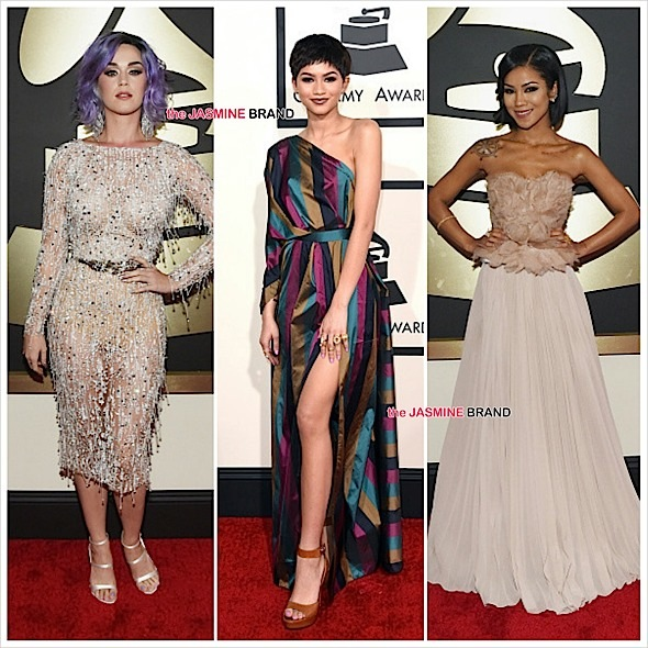 katy perry-zendaya-jhene aiko-the grammys red carpet 2015-the jasmine brand