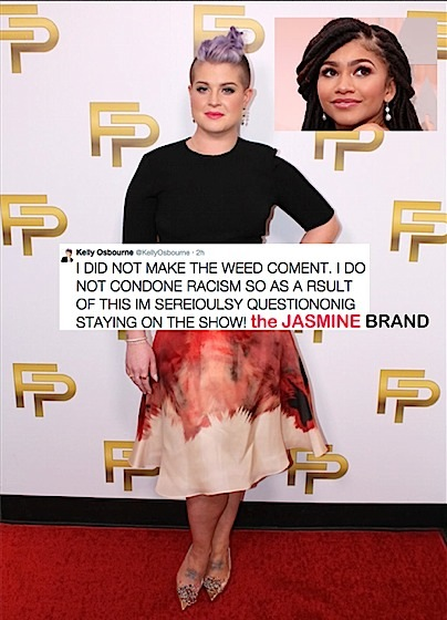 Kelly Osbourne Threatens to Quit Fashion Police Over Zendaya Hair Controversy
