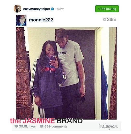 kevin durant-ex fiancee monica-the jasmine brand