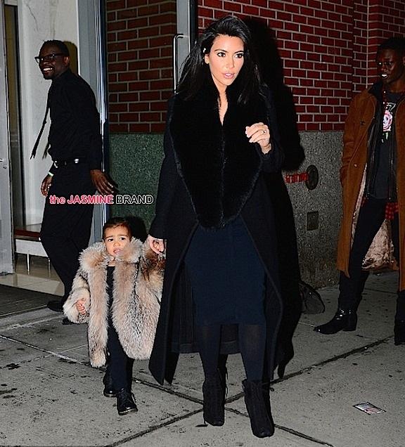 kim kardashian-baby north west fur-nyfw 2015-the jasmine brand