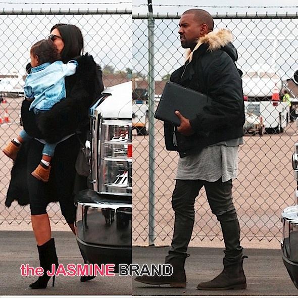 kim kardashian-north-kanye west-arrive super bowl-the jasmine brand