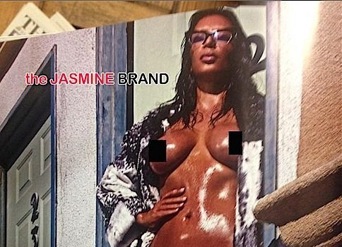 More Butt Nakedness, Kim Kardashian Goes Frontal Nude in LOVE [Photos]
