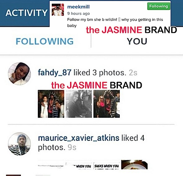 meek mill baby mama instagram beef-the jasmine brand