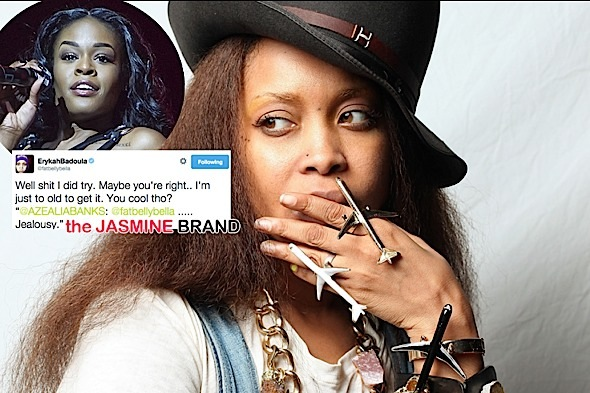 [Twitter Tussle] Azealia Banks Calls Erykah Badu Jealous & Old