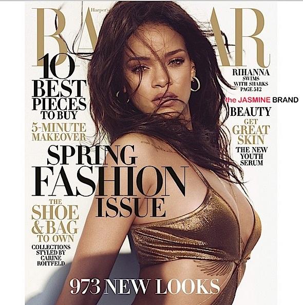 Rihanna Swims With Sharks For Harper's Bazaar [Photos]