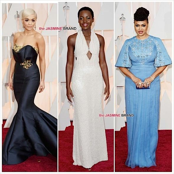 Rita Ora (#Marchesa), Lupita Nyong'o (Calvin Klein couture), Ava DuVernay