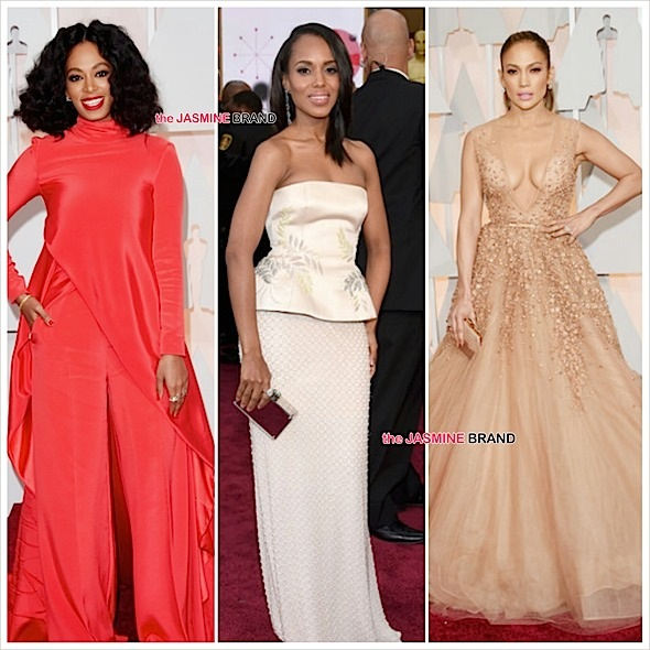 Solange Knowles (Christian Siriano), Kerry Washington (Miu Miu), J.Lo (Emma Stone)