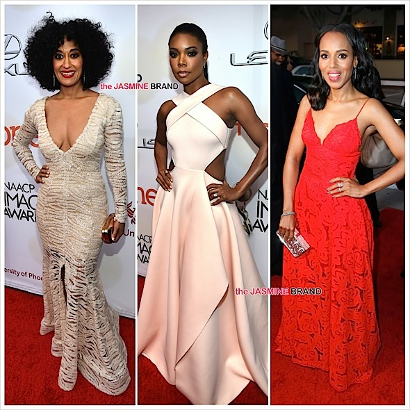 NAACP Image Awards Red Carpet: Gabrielle Union, Tracee Ellis Ross, Kerry Washington, Angela Bassett, LaVerne Cox [Photos]