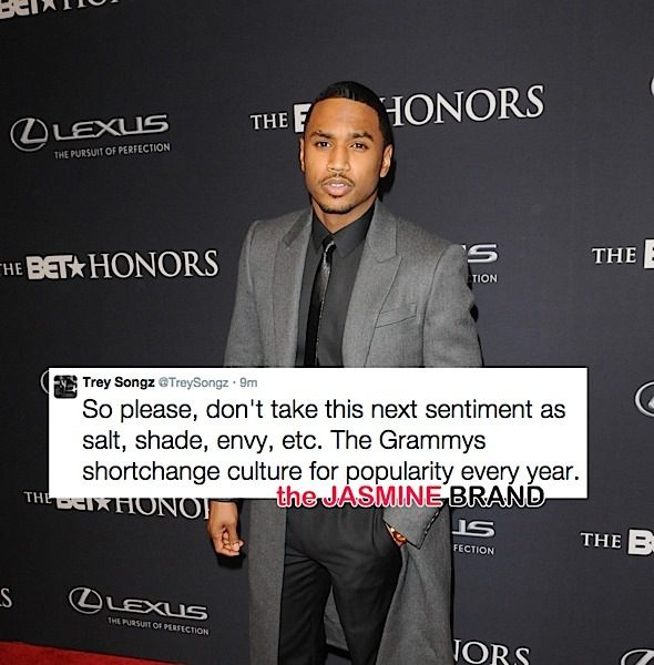 Trey Songz Feels Ignored By Grammys: They shortchange culture for popularity!