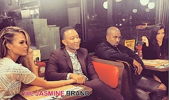 Kim Kardashian, Kanye West, John Legend & Chrissy Teigen Love Waffle House [Photos]