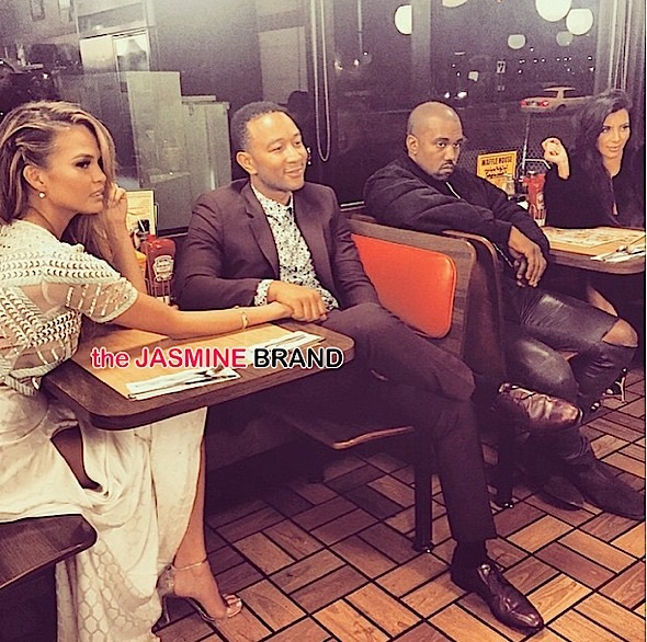 waffle house double date-kimye-john legend chrissy teigen-the jasmine brand