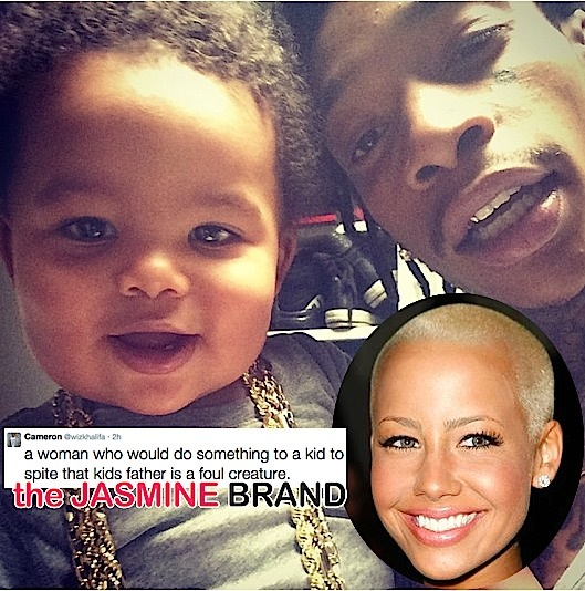 [Co-Parenting Conflict] Wiz Khalifa Hints Amber Rose Using Son Against Him